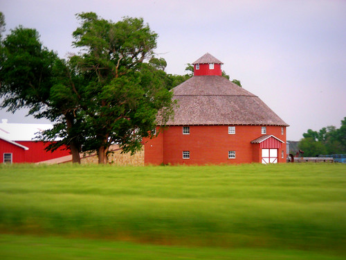 Round brick barn with ramp