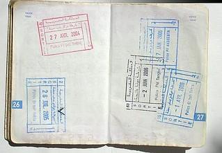 Carimbos de Marrocos no passaporte