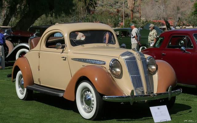 1936 Hupmobile 618 G 2-door rumble seat coupe - tan - fvr