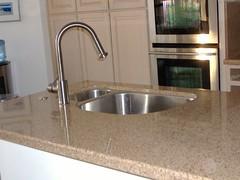 countertop, room, granite, plumbing fixture, hardwood, sink,