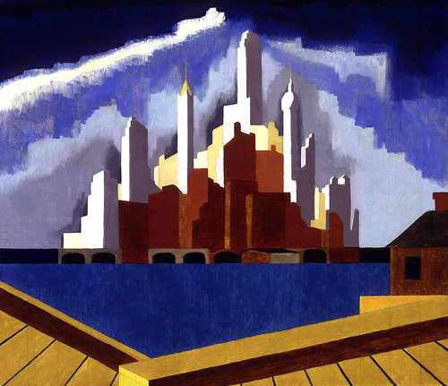 Thomas James Delbridge: Lower Manhattan, 1934