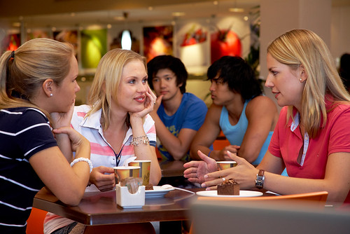 Students grab a coffee at Cafe Bond