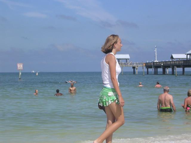 Bikini nipples clearwater walk
