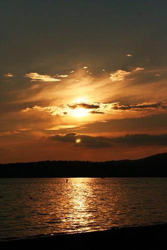 sunset cloud ny newyork clouds adirondack lakepleasant campofthewoods