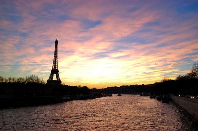 Tour Eiffel vue du pont de l'Alma
