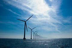 Windmills at the windmill farm Middelgrunden