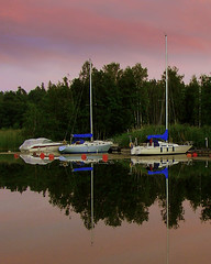 sailboats at Rastaholm