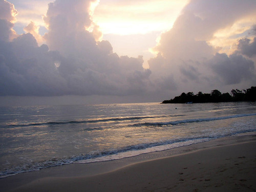 ocean sky beach clouds sunrise jamaica stannsbay
