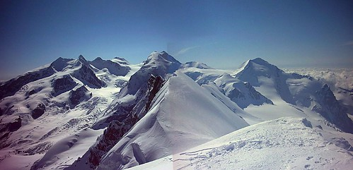 View from the Breithorn 4165m