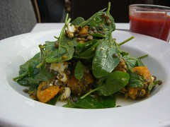 Roast Pumpkin, Goats Cheese, Spinach and Puy Lentil Salad - Cafe Sapore, Chadstone AUD13.50