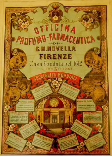 Beautiful Antique Poster Advertising the Pharmacy, from the Museum