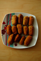 meal, croquette, fried food, rissole, produce, food, dish, cuisine, fast food,