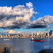 Seattle Skyline & Storm Clouds by Surrealize