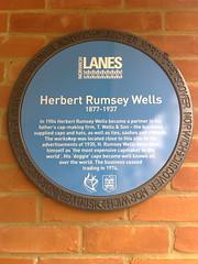 Photo of Herbert Rumsey Wells blue plaque