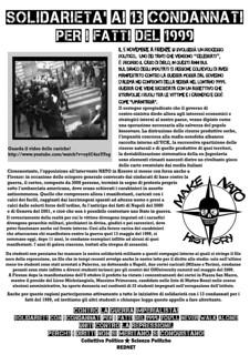 solidarietà ai 13 condannati per i fatti del 1999
