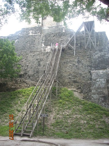 Katrina's photo of stairs going up a temple,