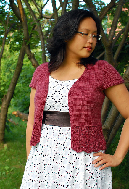 Bellevue Cardigan, worsted weight