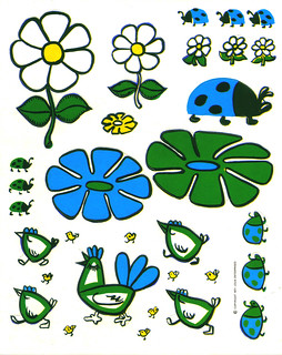 Logix Deco Stickers - Flowers & Bugs - 1971