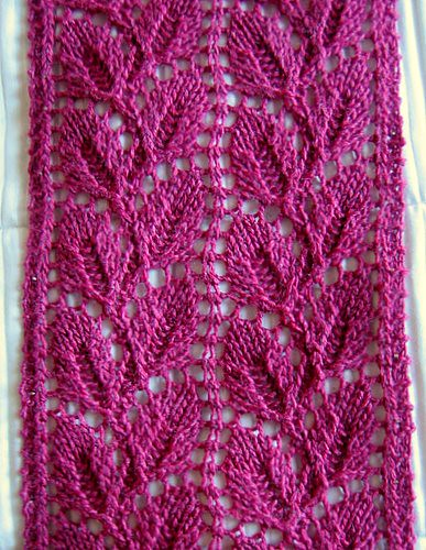 Pin Easy Diagonal Eyelet Scarf Knitting Pattern Daily Patterns on Pinterest