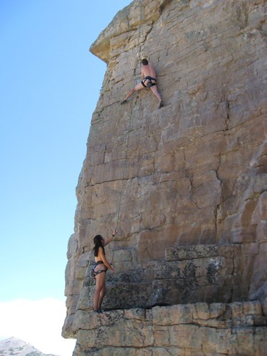 Rock Climbing Nude in Utah, Ruth Lake, Uintas