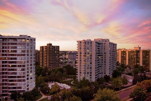 road sunset sky sun house building clouds sunrise pretty apartment condo vanilla hue hosing