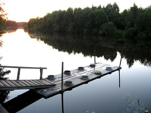 sunset river pier pori kokemäenjoki mattolaituri piilinranta