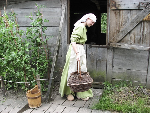 medieval girl with basket