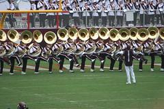 sports(0.0), football(0.0), cheerleading(0.0), sport venue(1.0), marching band(1.0), musician(1.0), cheering(1.0), musical ensemble(1.0), marching(1.0), stadium(1.0), team(1.0),