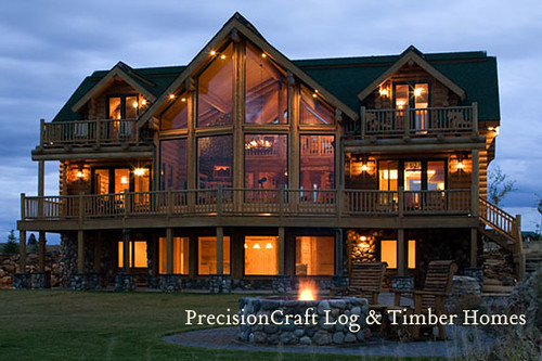 A Milled Log Home Masterpiece By Precisioncraft Log Home
