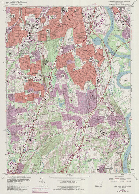 hartford south quadrangle 1992 - usgs topographic map 1 24 000