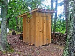 hut, wood, outhouse, shed,
