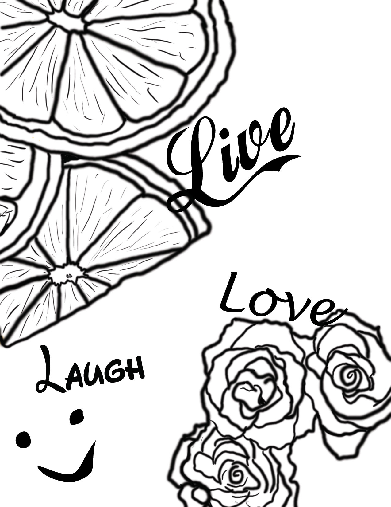 Free Coloring Pages Of Live Laugh Love Live Laugh Coloring Pages