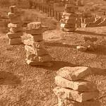 Stacks of Rocks at Mizdakhan Cemetery - Nukus, Uzbekistan