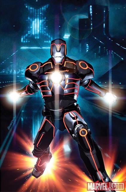 101022(3) - 《創:光速戰記》和《驚奇漫畫》的完美融合!蜘蛛人、金鋼狼等10位英雄披上「光速戰服」亮相! 10 鋼鐵人(Iron Man)
