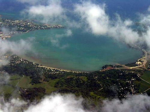 ocean clouds flying jamaica montegobay