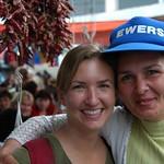 Audrey with Market Vendor - Tbilisi, Georgia