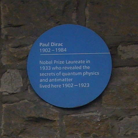 Paul Dirac Lived Here