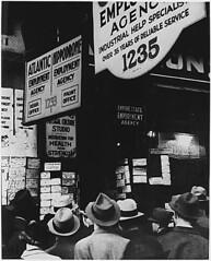 desempleados en busca de trabajo, c 1935