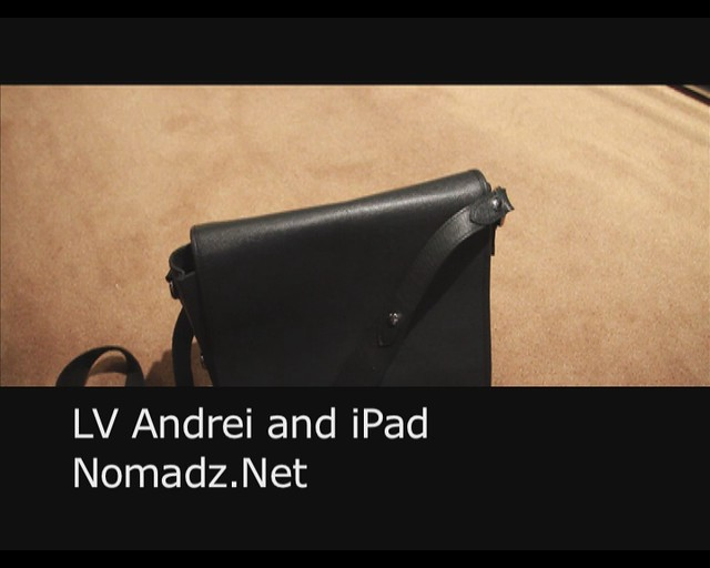 Louis Vuitton Andrei Messenger Bag + iPad