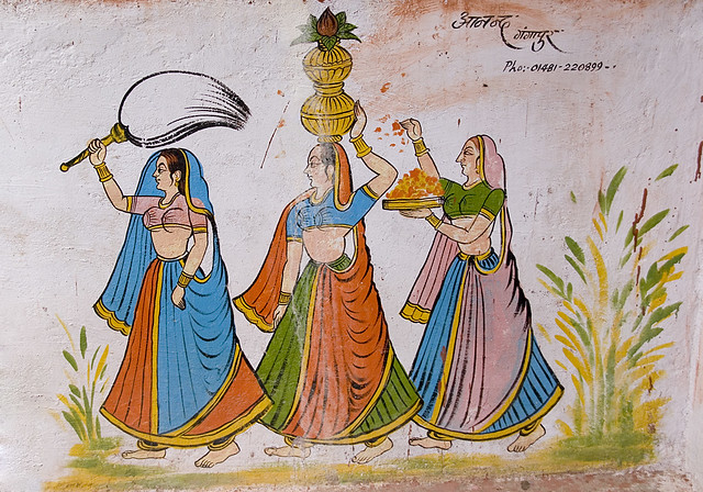 Mughal themed mural