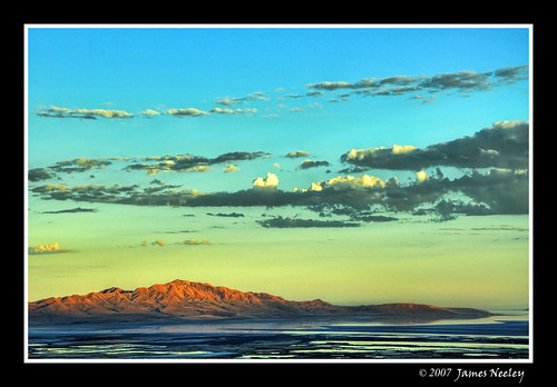 First Light on Antelope Island