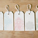 Holiday Gocco Gift tags - Scrolls - set of 5