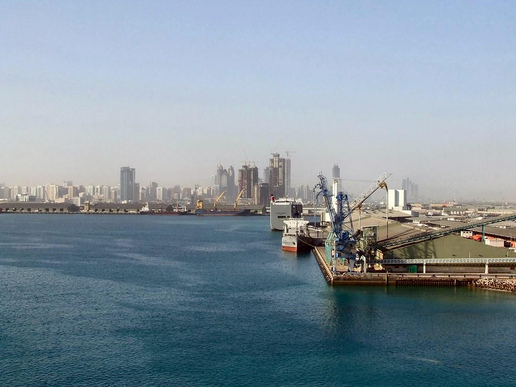Entering Abu Dhabi Port