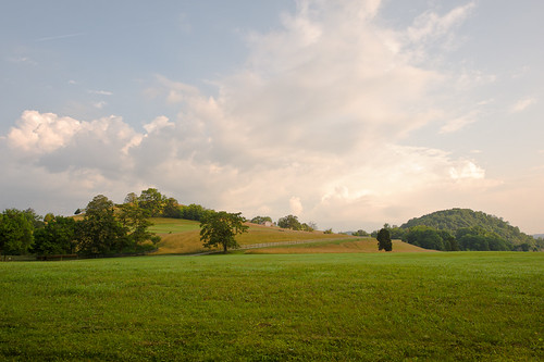 morning trees sky house field grass clouds rural sunrise fence farm hill va shawsville
