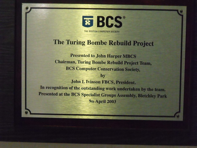 Photo of Alan Turing brass plaque