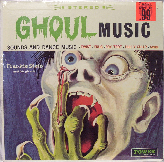 Frankie Stein and His Ghouls, Ghoul Music (1965) - Power Records. Vintage Halloween album cover.