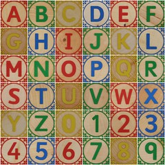 Block letters and numbers