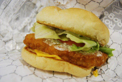 Friday s fast food fishtacular roy rogers fish sandwich for Fish sandwich fast food
