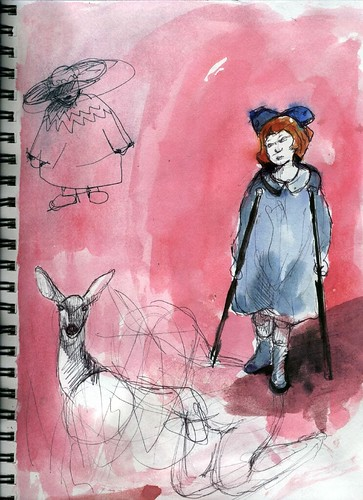 Sketchbook: A Vivian Girl, Injured, With Only Her Thoughts