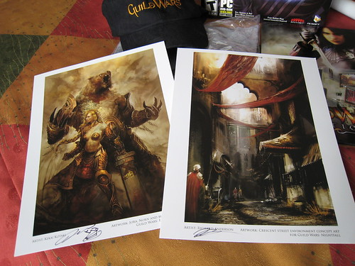 Signed Guild Wars Prints